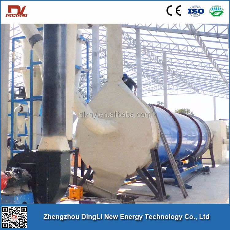 7t/h DingLi Manufacturer Tapioca Starch Rotary Drum Dryer for Cassava Processing Machine