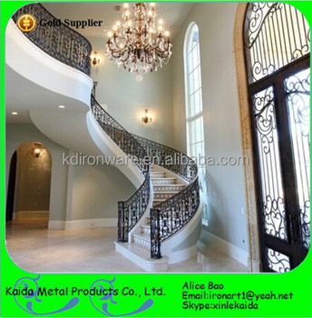 Cheap Modern Design Inoor Stairs And Wrought Iron Stair Balusters And  Spindles