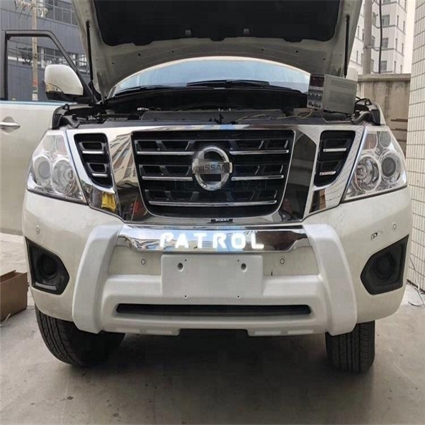 Bumper Guard For Suv >> Wholesale Auto Accessory Auto Front Bumper Protector Guard With Led Light For Nissan Patrol Y62 Suv Car Bumpers Buy Abs Front Bumper Guard With