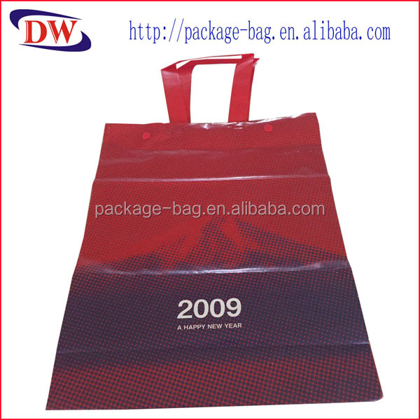 cardboarrd reinforced plastic grocery bags with tote handle