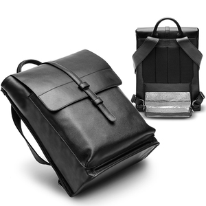 Korea famous brand 25l black school bag pu leather backpack with cooler compartment