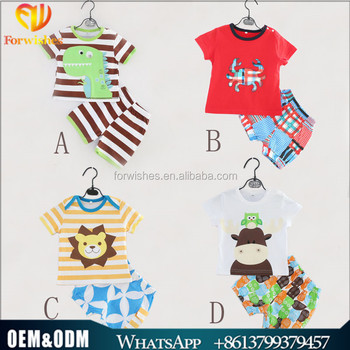 c9d79b730629 European style cartoon newborn baby clothing 1-5y cotton summer boutique  short sleeve boy s clothes