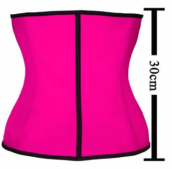 497f2590f0f 100% Latex Waist Trainer Corset 9 Steel Bone Shapewear Body Shapers Women  Corset Slimming Belt
