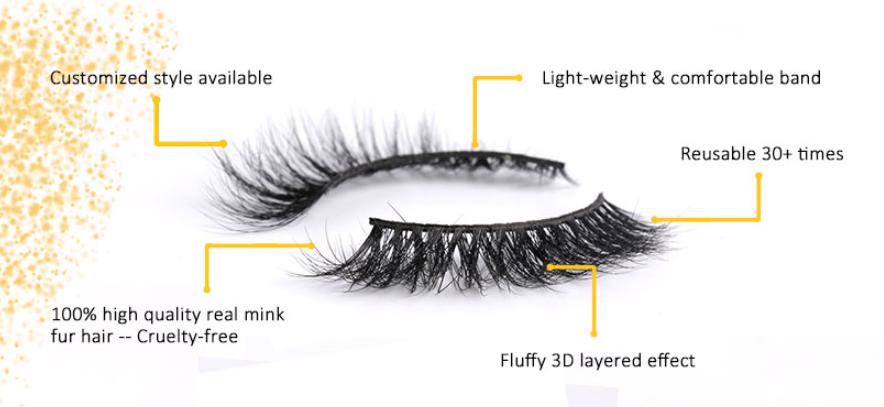 Wholesale eyelashes 3d mink lashes 25mm eyelashes 3d mink eyelashes