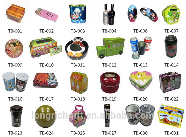 Custom printing heart shape gift tin box for packaging