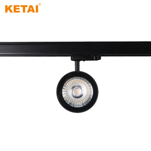 Black/Grey Round Aluminium 20W Cob Led Track Light