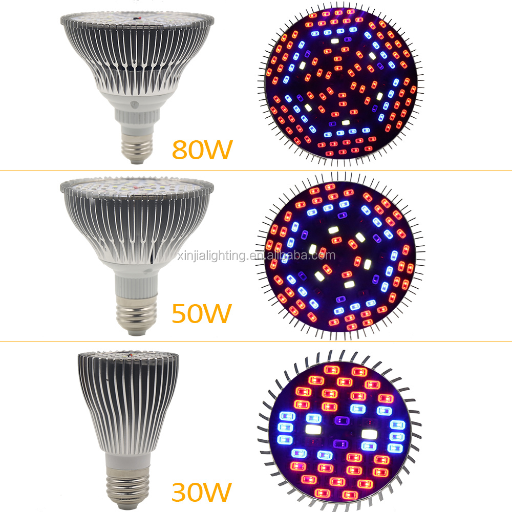 E27 Epistar Led Plant Growing Lights Full Spectrum 30w/50w/80w 85 ...