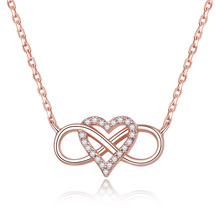 POLIVA Hawaiian <span class=keywords><strong>Rosario</strong></span> 925 Sterling Silver Infinity Amore Del Pendente 24 k Collana In Oro
