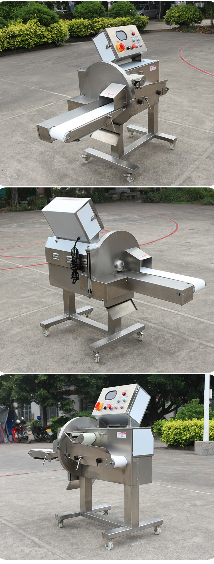 Adjustable automatic meat cutting machine