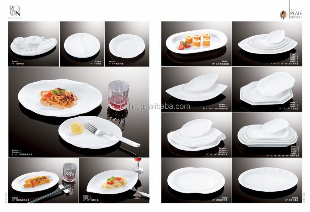 Hot Sale Hotel Restaurant Dinnerware Plate Crockery Dish Ceramic Plate Fo