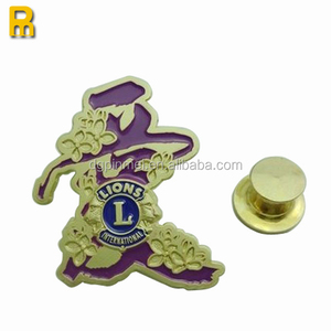 factory price custom metal soft enamel badge with safe pin