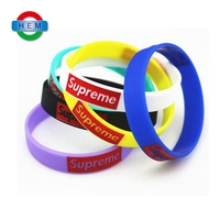 Eco-Friendly cheap crafts wrist band / silicon bracelet wholesale unbreakable elastic custom silicone wristband