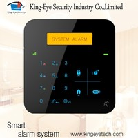 gsm home alarm system with APP RFID SOS and SMS low battery alert, CE RoHS