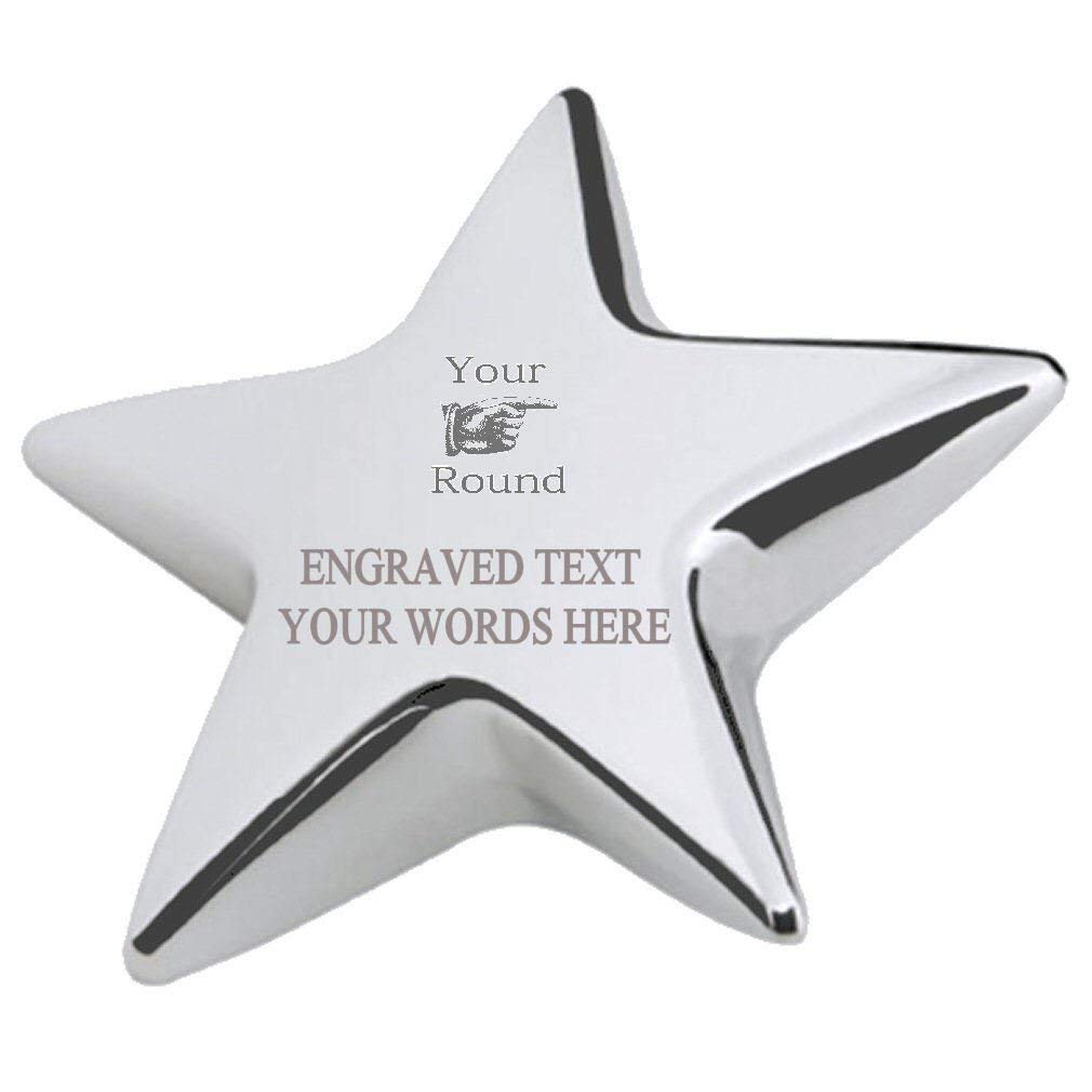 Your Round Office Desk Paperweight Engraved