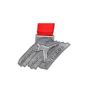custom sports race metal embossed medals trophy antique silver 3d engraved metal Marathon trophy round medal