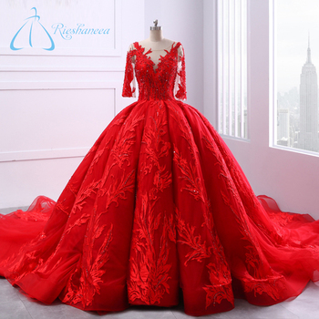 Gorgeous Red Ball Gown Wedding Dresses Plus Size Buy Wedding
