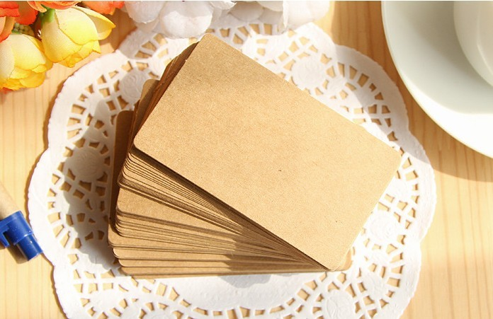 Wholesale Retro Kraft Paper Blank Rounded Box DIY Graffiti Card/Postcard Word Card