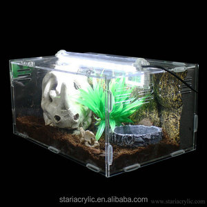 Factory Wholesale Easy Assembly Clear Acrylic Terrarium Pet Reptile Cage