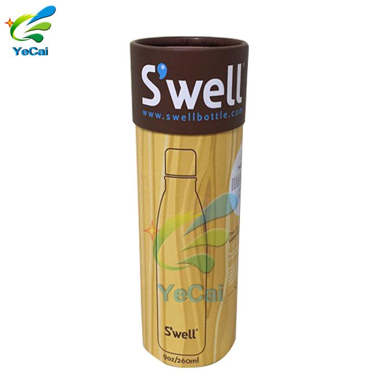 Hot sale free sample custom bottle paper tube , kraft cup paper tube packaging box