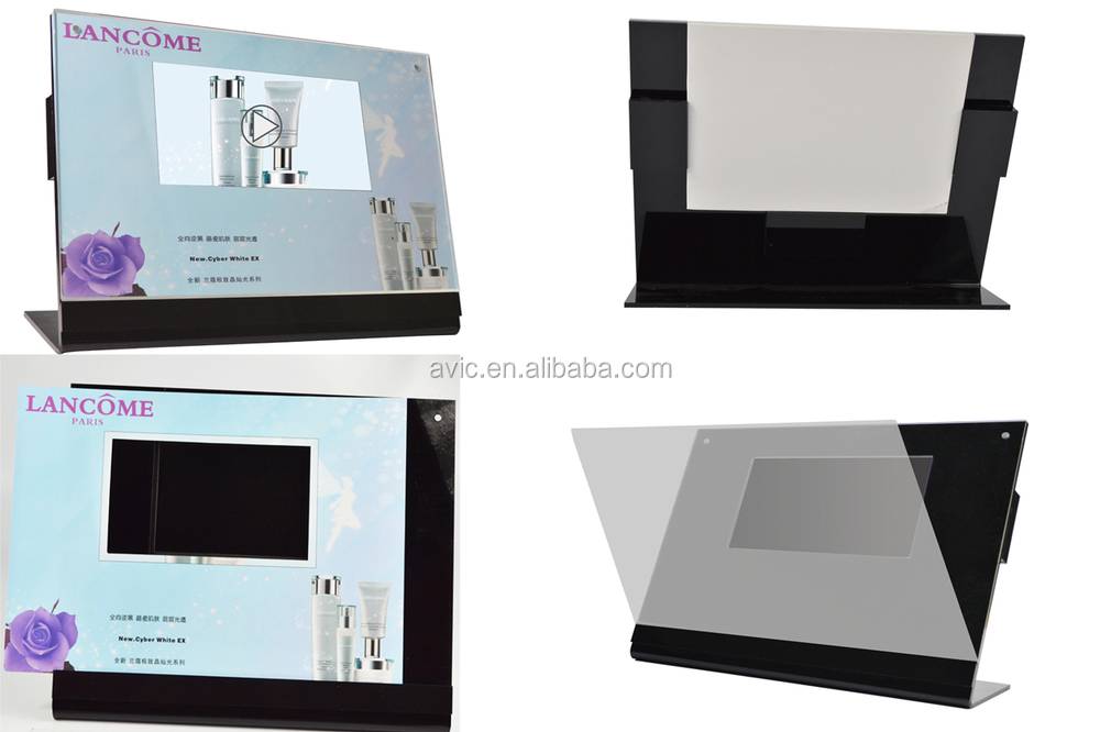 Lcd video scherm acryl display stand met binnen of sd-kaart geheugen