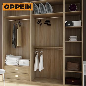 Oppein Modern Style Sliding Swing Door Closet Wardrobe With Book