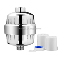 Hot sale on Amazon 10/12/15 stages chrome universal KDF shower water filter with 2 replacement filter