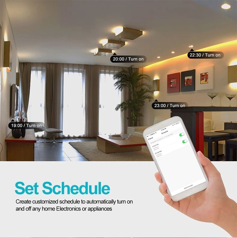 AlexaGoogle Home voice control smart wireless socket mobile APP remote control timer switch