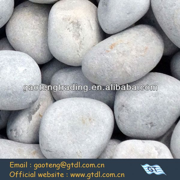 Natural white round cheap silex grinding pebbles