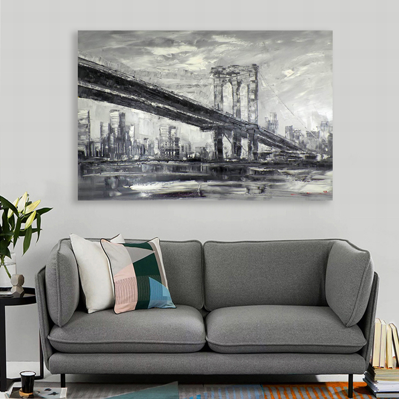 Handmade Wall Decor New York City Oil Painting Art Acrylic Paint By Number
