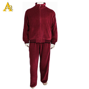 2842b2f2a9 Custom Sports Men Training Jogging Jacket Velour Tracksuit Pants Burgundy  Track Suits