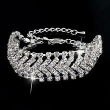2017 modekette silber braut <span class=keywords><strong>schmuck</strong></span> multi kristall armband strass hochzeit <span class=keywords><strong>schmuck</strong></span>