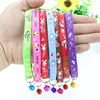 Cute Printing Pet Collar with Stainless Steel Small Bell Adjustable Puppy Dog Collar Nylon
