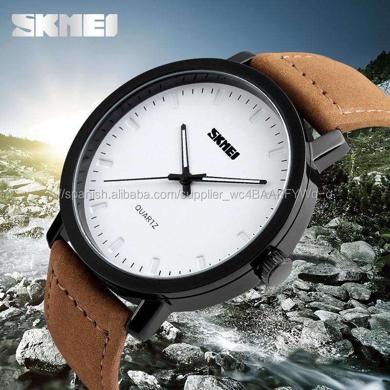 036d2496d661 Mano reloj de los hombres relojes de cuarzo esfera blanca grande vendido en  turquía