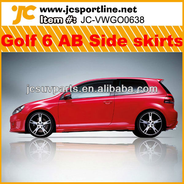PP AB Style Golf 6 Side Skirts bodykits for VW Golf MK6