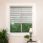 window roller double zebra blinds sheer shade blackout black blinds