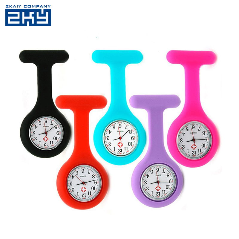 Waterproof Brooch Nurse Pocket Fob Doctor Watch, Silicone Rubber Digital Breast Nurse Watch