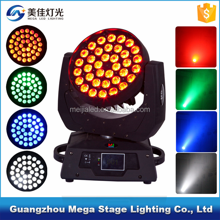 China new led dmx 5in1rgbwa case 36 led moving head wash