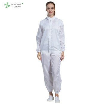 Clean room esd static resistant protective clothing