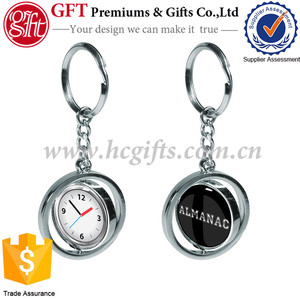 High Quality Round Rotating Keychain with custom logo