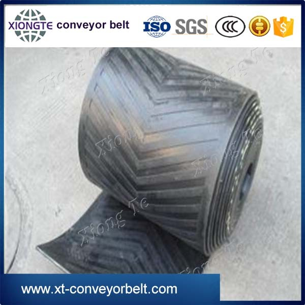 Cleated Incline Belt used for bulk conveying chevron profile cleats conveyor belt