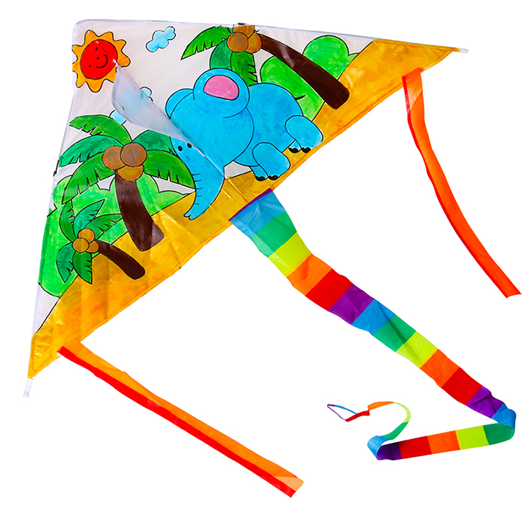 Children handmade drawing DIY kite