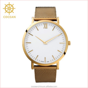 China Watch Factory!22K Gold Plated Watch Men Luxury Watch For Man