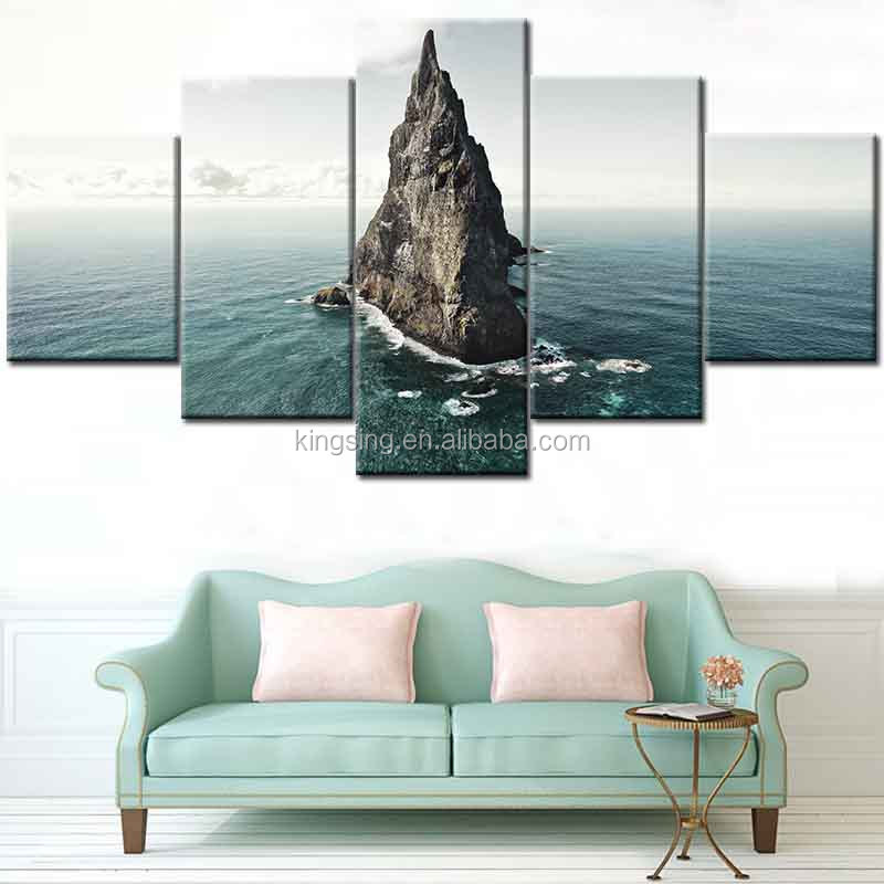 Printed Painting Beautiful Island Simple Modern Island Print Canvas