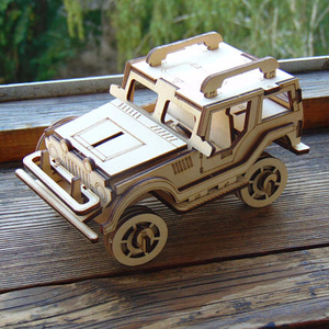 china factory wholesale wooden 3d puzzle car customized
