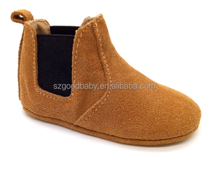 guangzhou soft suede leather moccasins booties import baby shoes china wholesale