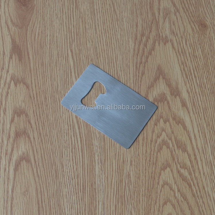 Stainless steel speed flat bottle opener business card