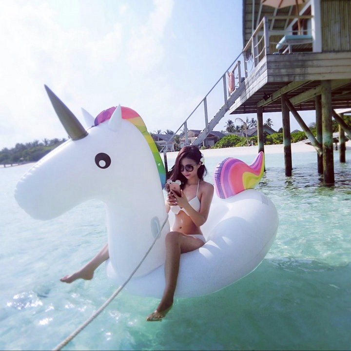 Giant Inflatable Unicorn Rainbow Pool Float big unicorn float