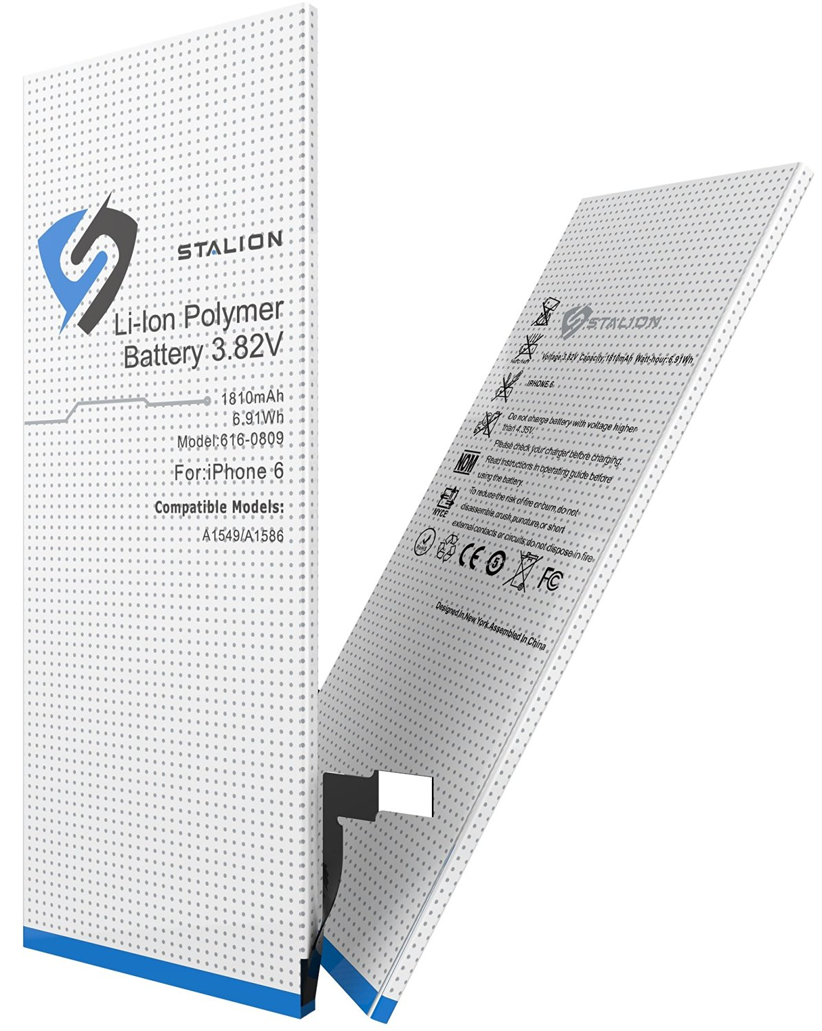 "iPhone 6 Battery : Stalion Strength 1810mAh 3.82V Li-Ion Polymer Battery Replacement (4.7"" Inch Only)[24-Month Warranty](compatible with GSM & CDMA Models A1549 / A1586)"