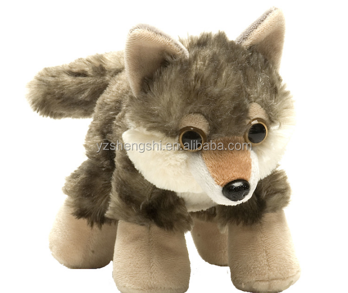 Icti Factory Plush Stuffed Realistic Wolf Toy Factory Direct Plush