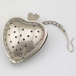 New Design Heart Shaped Tea Infuser Bag With Chain